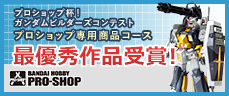 プロショップ杯!ガンダムビルダーズコンテスト プロショップ専用商品コース最優秀作品受賞!